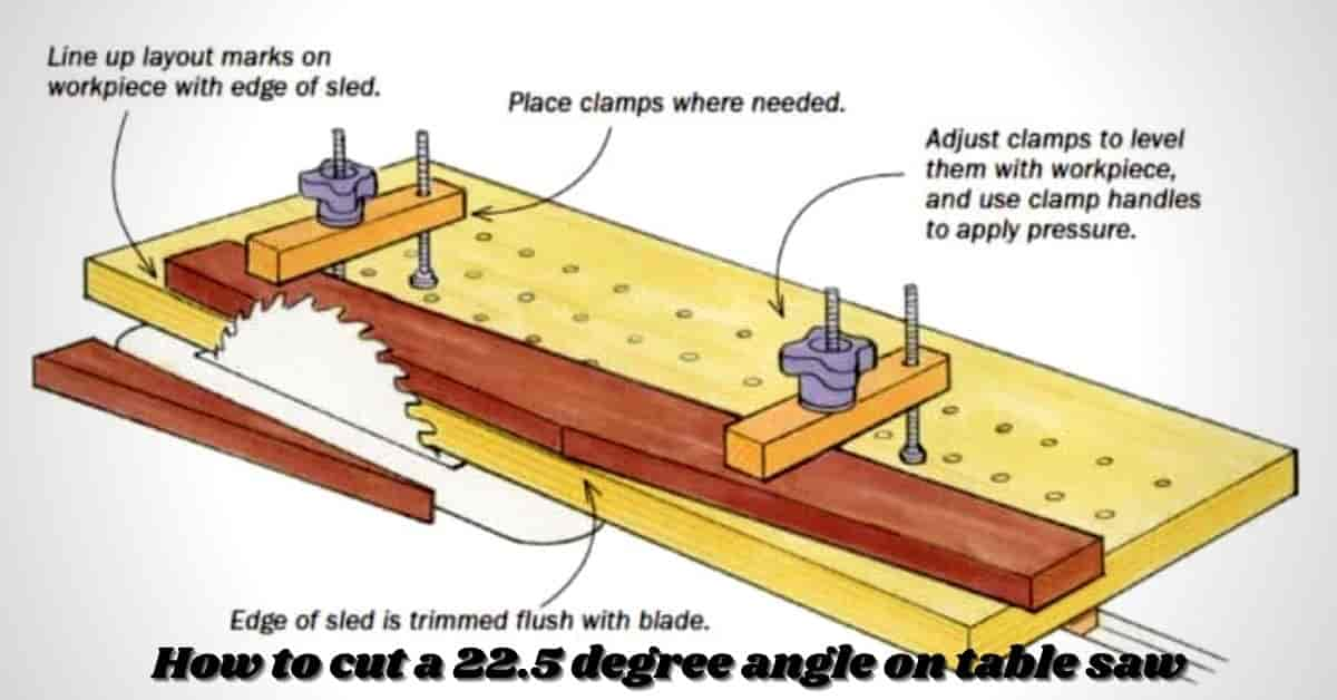 how to cut a 22.5 degree angle on table saw